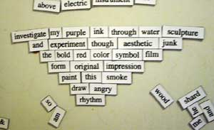 Magnetic poetry untitled 1