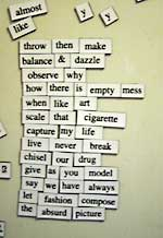 Magnetic poetry untitled 2